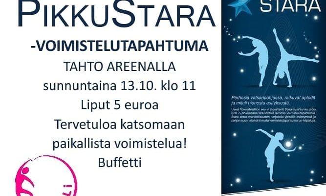 PIKKUSTARA sunnuntaina 13.10. klo 11 Tahto Areenalla