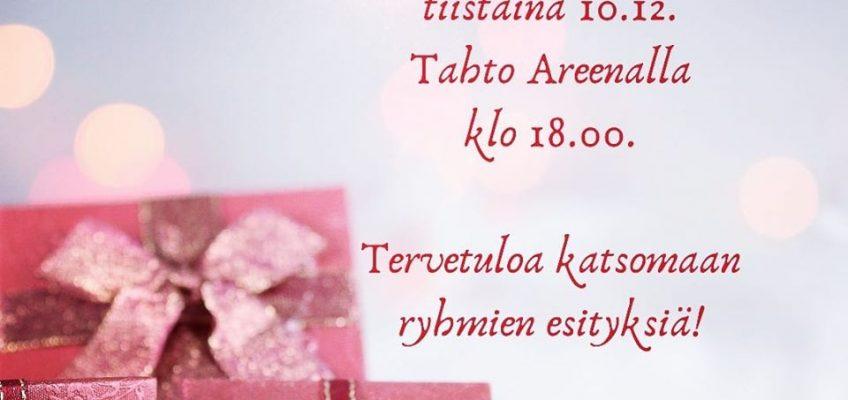 Joulunäytös Tahto Areenalla 10.12.