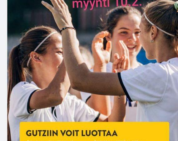 Seura myy GUTZ-tuotteita