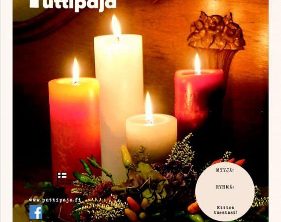 Myynnissä Puttipajan kynttilöitä