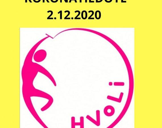 Koronatiedote 2.12.2020