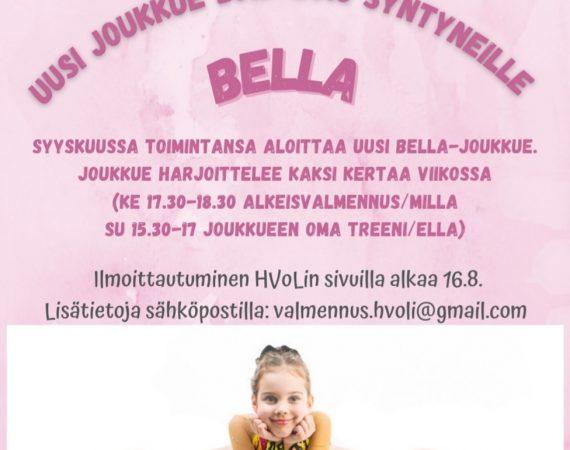 Uusi Bella-joukkue 2015-2016 -syntyneille tytöille